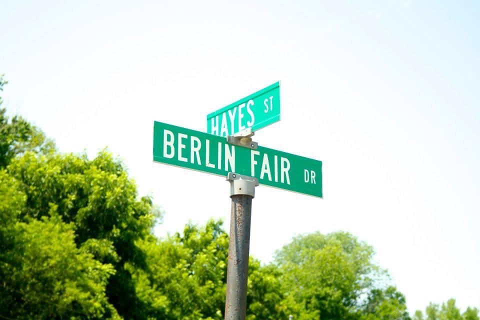 Berlin Fair street sign